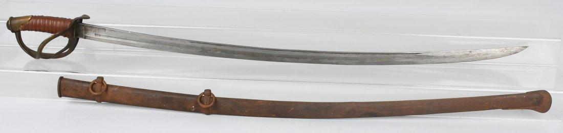 CIVIL WAR MODEL 1840 CAVALRY SWORD & SCABBARD