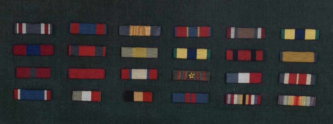 INDIAN WARS - WWI FRAMED RIBBON BARS & BUTTONS - 10