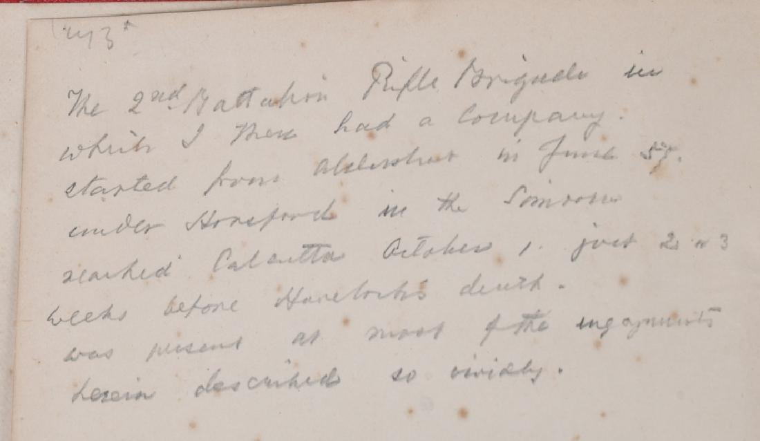 SCOTTISH BALMORAL CAP & HISTORY 1857-59 MUTINY - 5