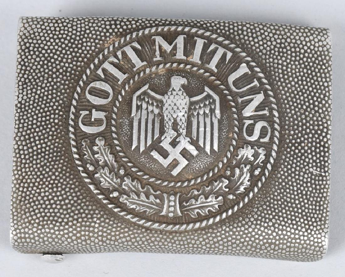 WWI & WWII NAZI GERMAN BELT BUCKLE LOT INC. HJ - 2
