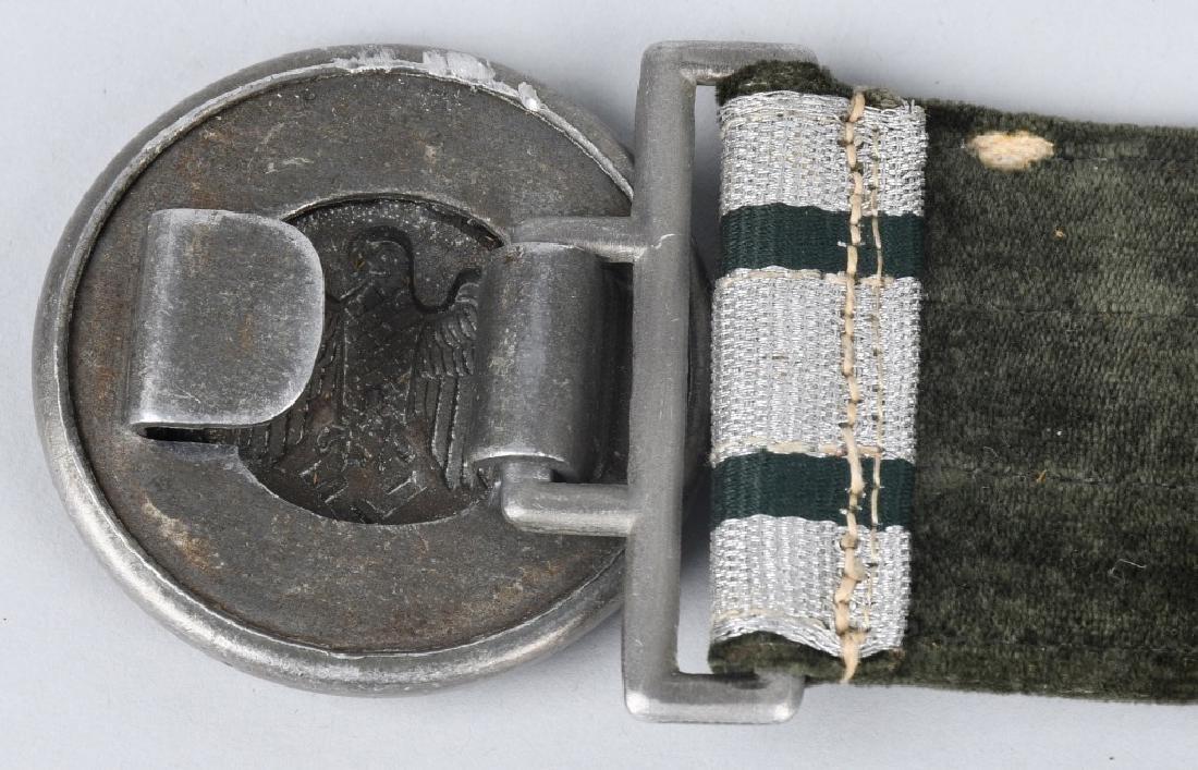 WWII NAZI GERMAN ARMY OFFICER DRESS BELT & BUCKLE - 3