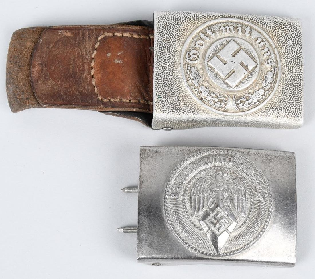 WWII NAZI GERMAN BELT BUCKLE LOT POLICE & HJ