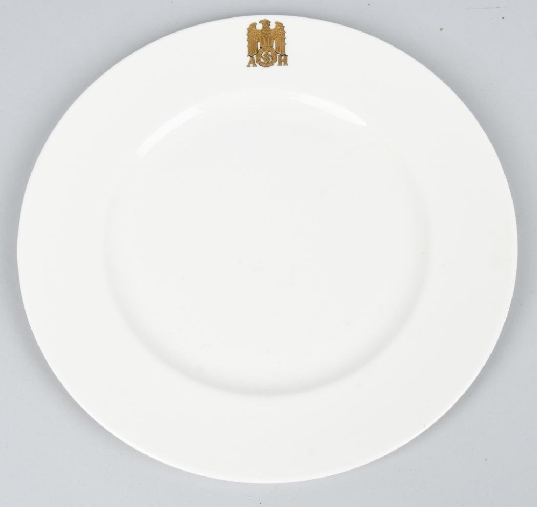 WWII NAZI ADOLPH HITLER DINNER PLATE BY SS ALLACH