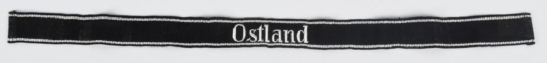 WWII NAZI GERMAN WAFFEN SS OSTLAND CUFF TITLE