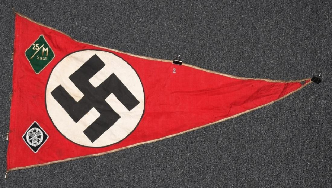 WWII NAZI GERMAN NSKK UNIT MARKED PENNANT - BANNER