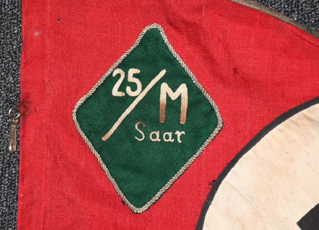 WWII NAZI GERMAN NSKK UNIT MARKED PENNANT - BANNER - 2