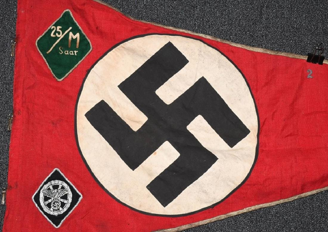 WWII NAZI GERMAN NSKK UNIT MARKED PENNANT - BANNER - 4