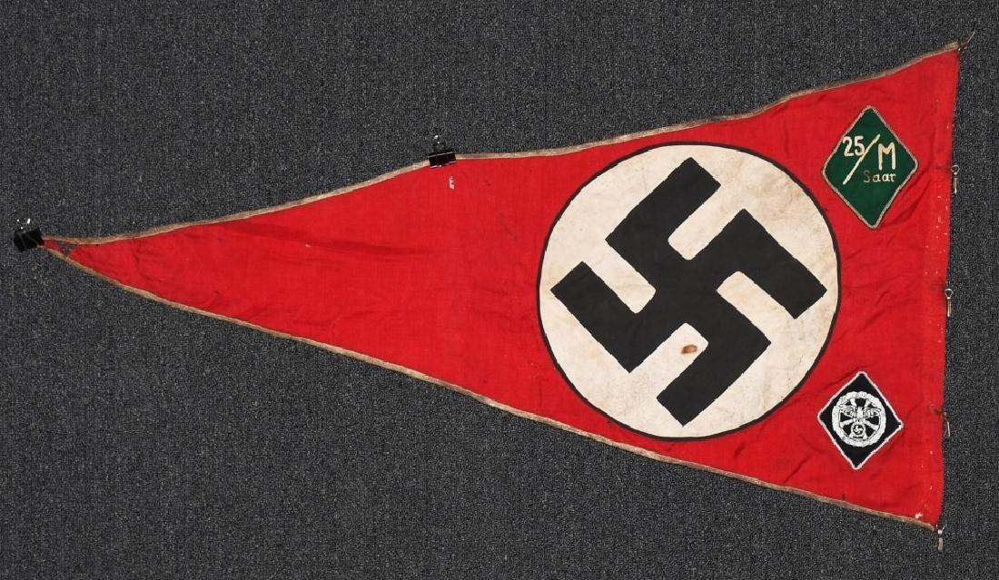 WWII NAZI GERMAN NSKK UNIT MARKED PENNANT - BANNER - 9