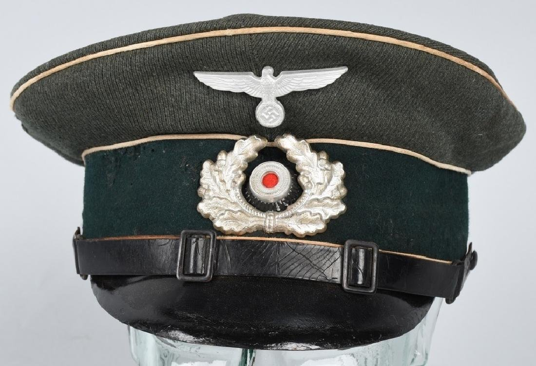 WWII NAZI GERMAN ARMY INFANTRY NCO VISOR CAP