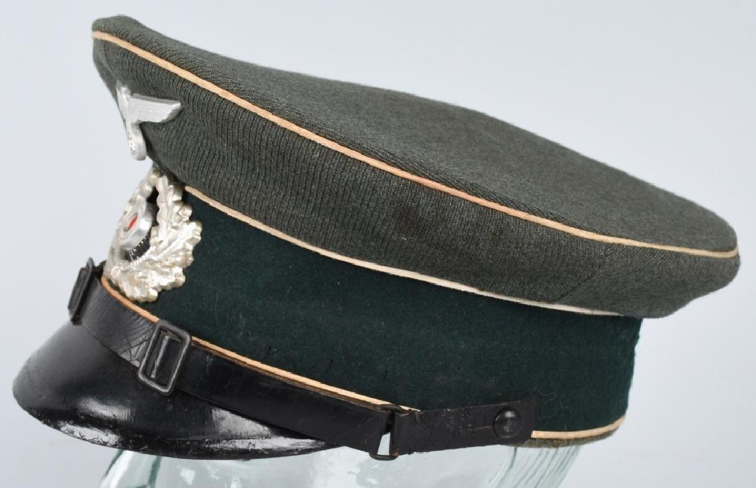 WWII NAZI GERMAN ARMY INFANTRY NCO VISOR CAP - 2