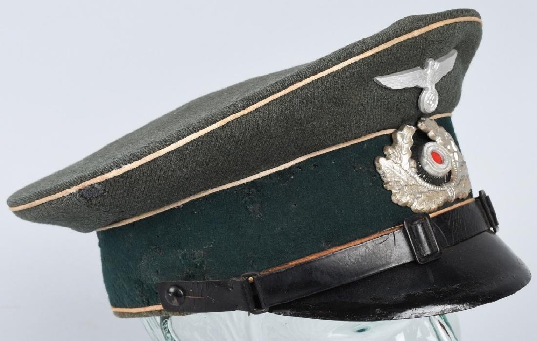 WWII NAZI GERMAN ARMY INFANTRY NCO VISOR CAP - 5