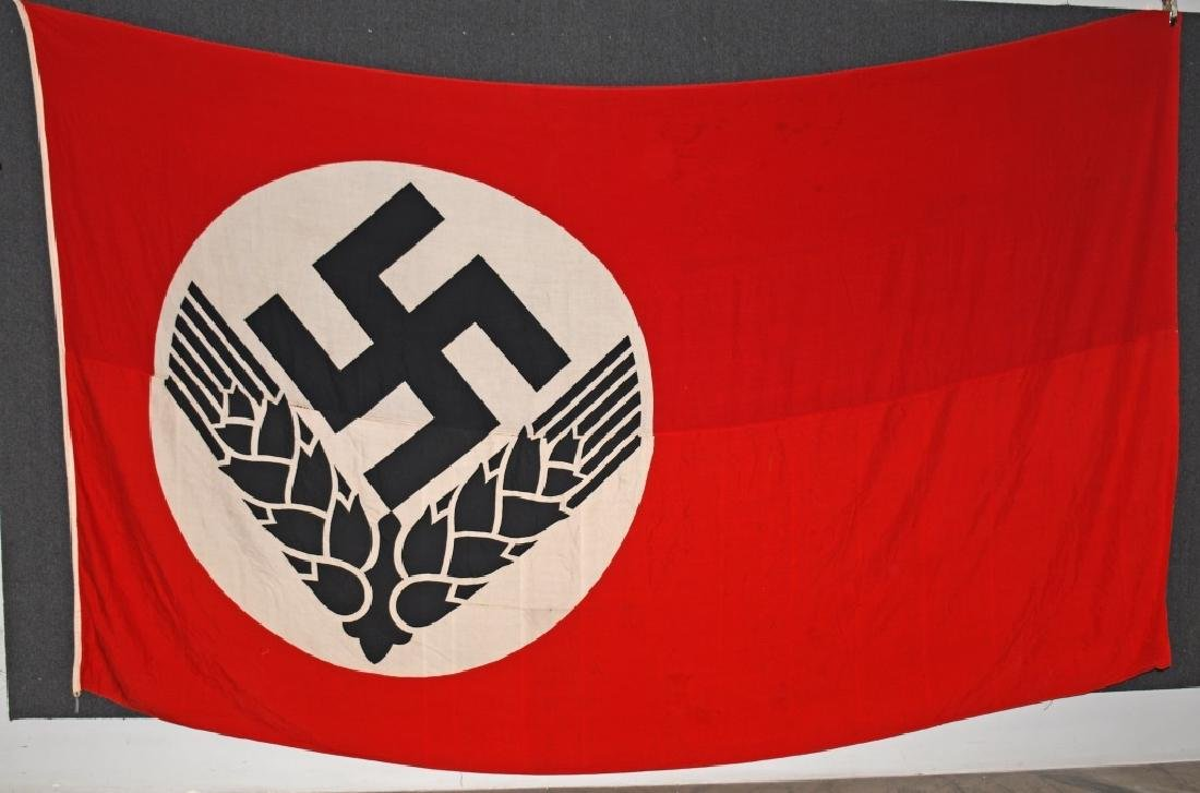WWII NAZI GERMAN RAD FLAG - LARGE
