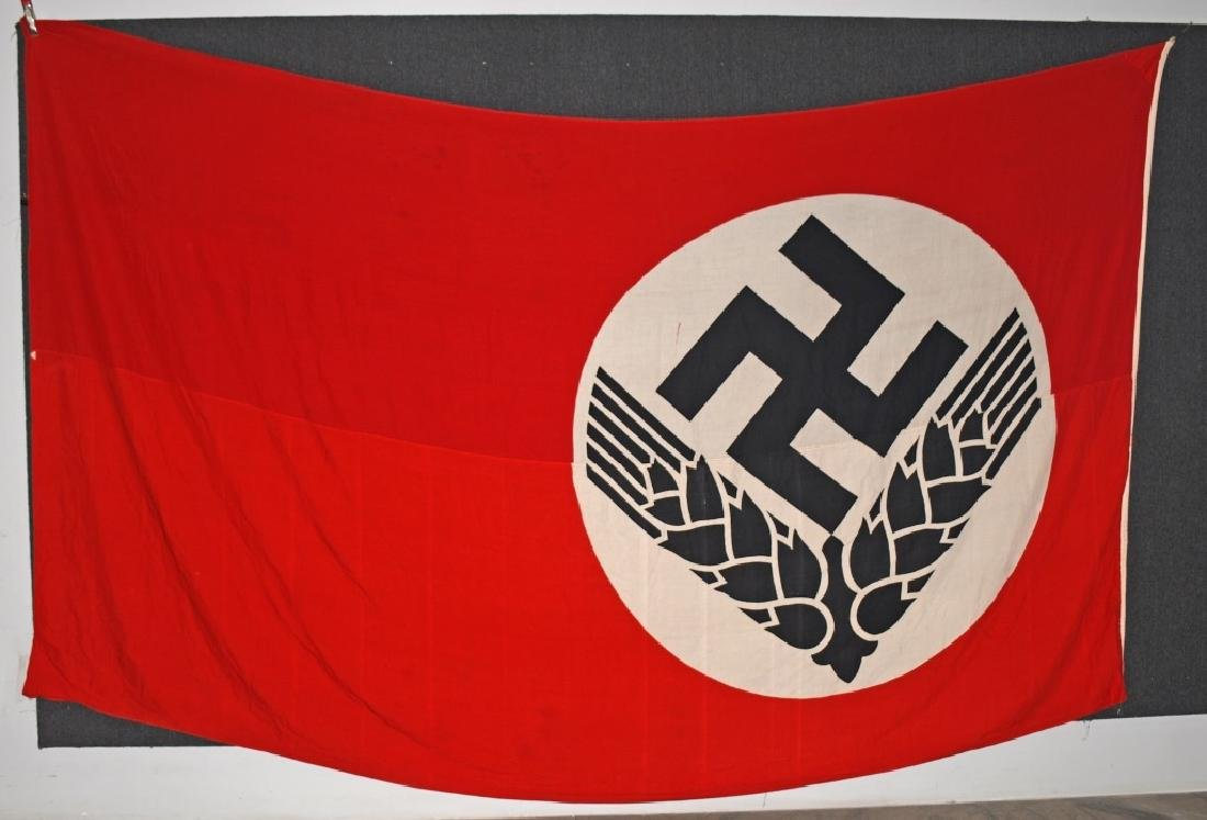 WWII NAZI GERMAN RAD FLAG - LARGE - 5