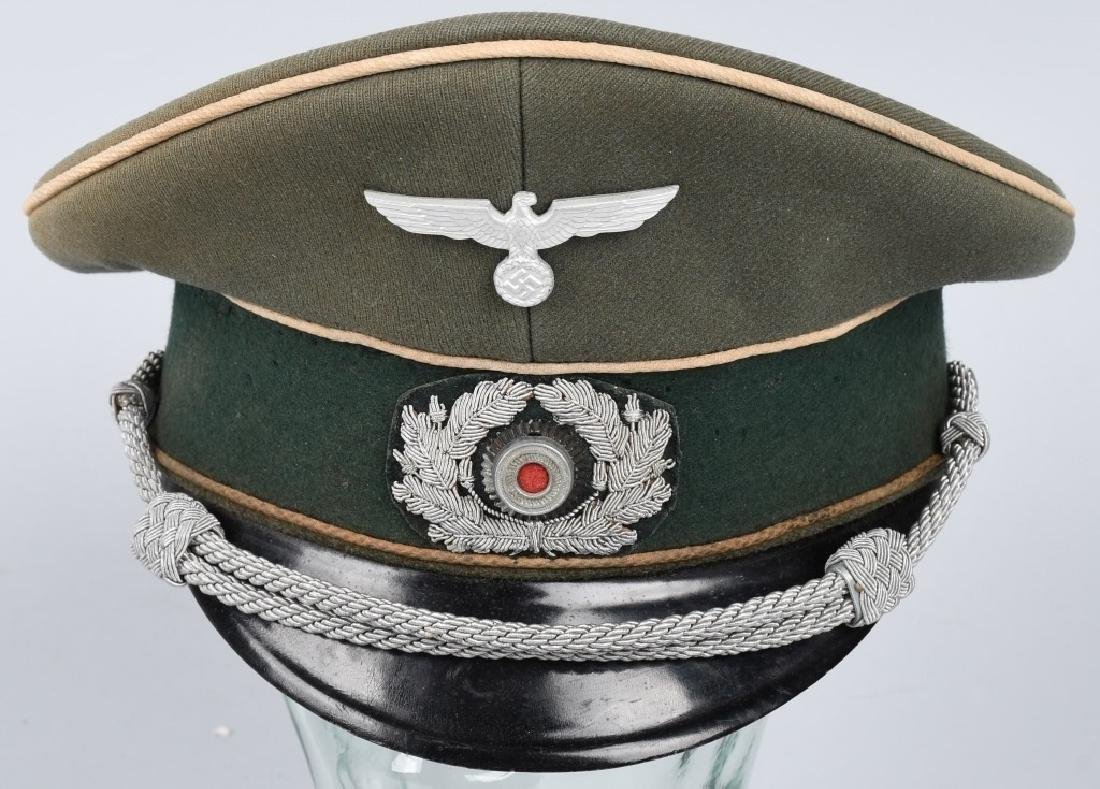 NAZI GERMAN WWII ARMY INFANTRY OFFICERS VISOR CAP