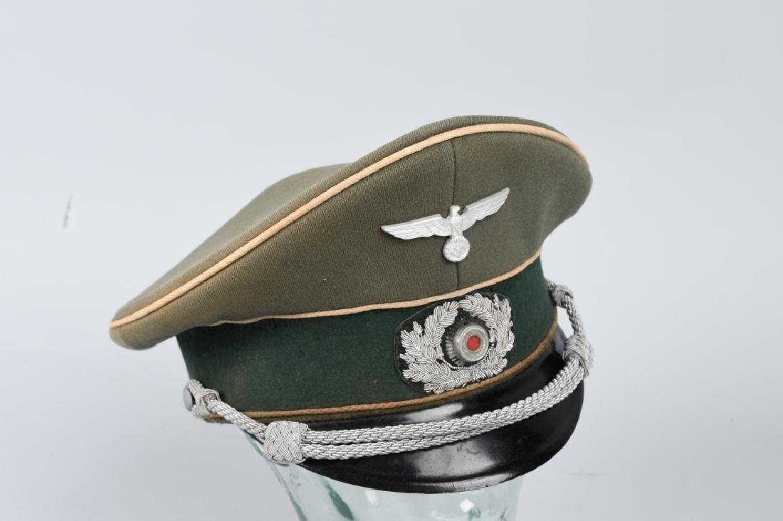 NAZI GERMAN WWII ARMY INFANTRY OFFICERS VISOR CAP - 5