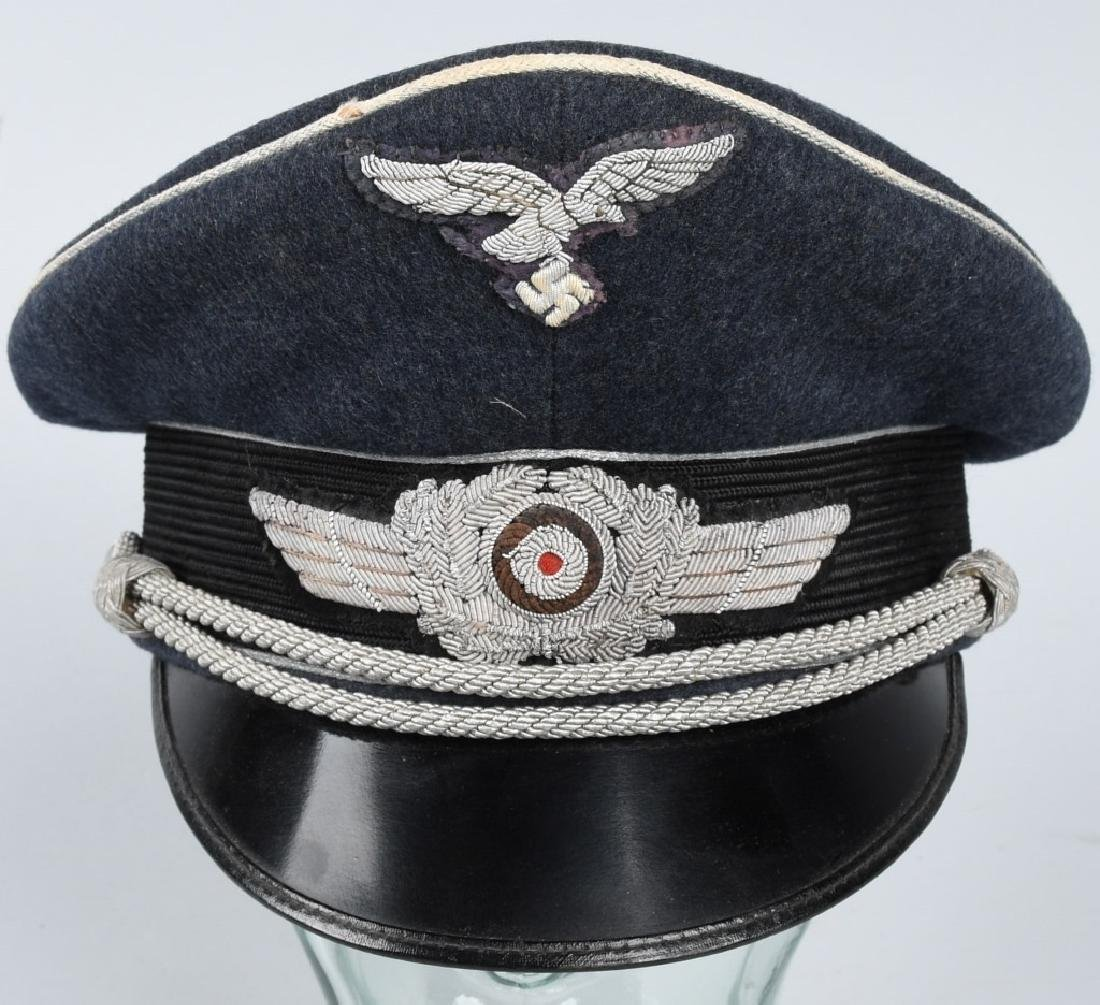 WWII NAZI GERMAN LUFTWAFFE OFFICER VISOR CAP