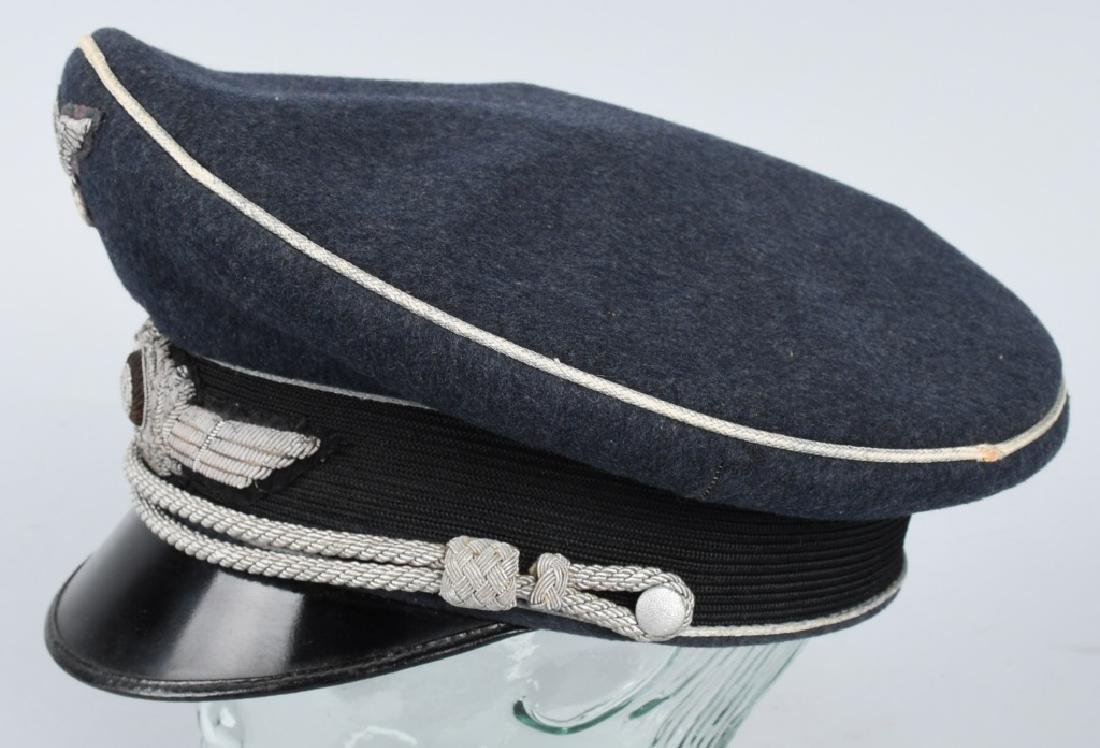 WWII NAZI GERMAN LUFTWAFFE OFFICER VISOR CAP - 2