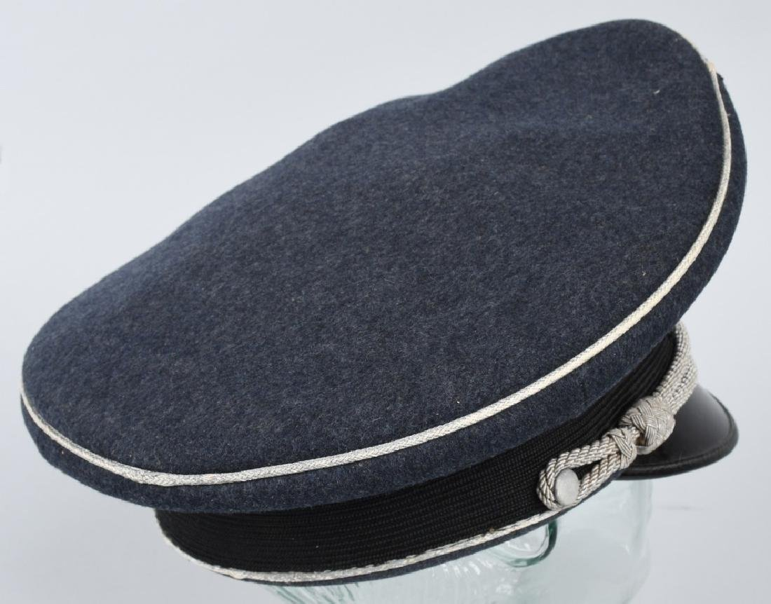WWII NAZI GERMAN LUFTWAFFE OFFICER VISOR CAP - 4