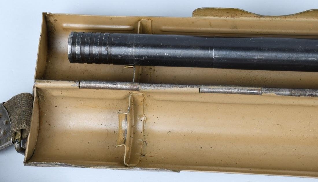 WWII NAZI GERMAN MG 34 SPARE BARREL & CARRIER - 2