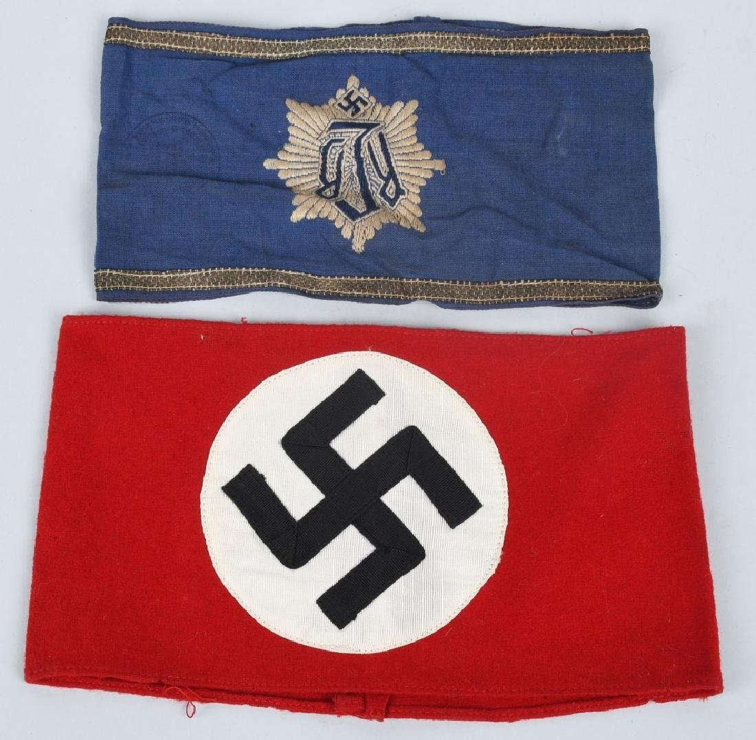 WWII NAZI GERMAN ARMBAND LOT RLB & NSDAP