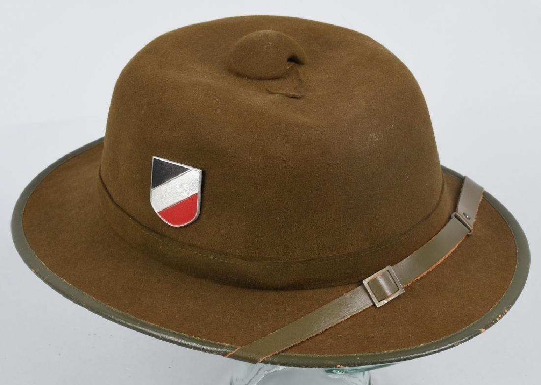 WWII NAZI GERMAN 2ND PATTERN ARMY PITH HELMET - 4