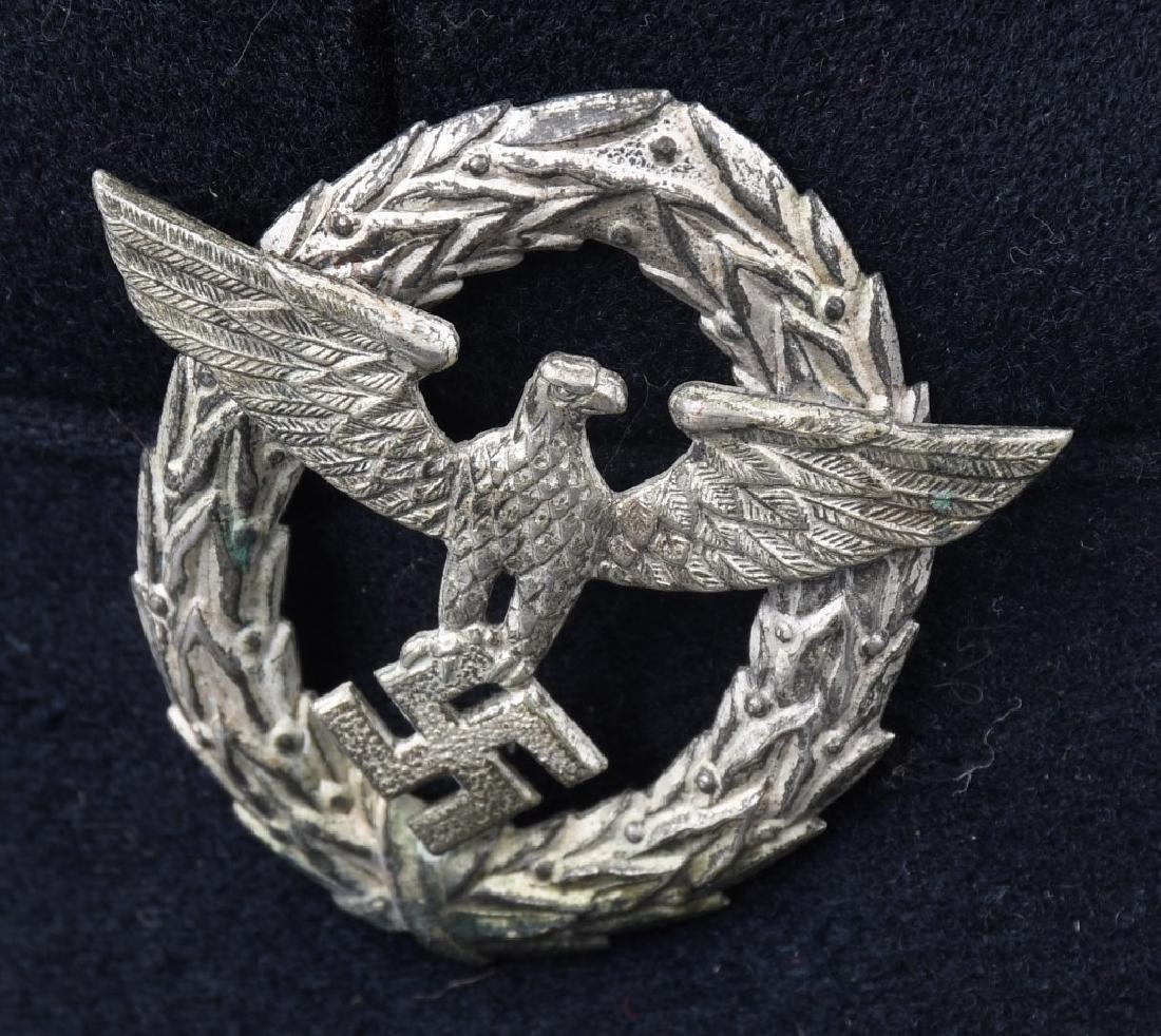 WWII NAZI GERMAN FIRE POLICE FEUERWEHR VISOR HAT - 2