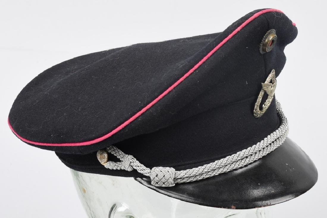 WWII NAZI GERMAN FIRE POLICE FEUERWEHR VISOR HAT - 5