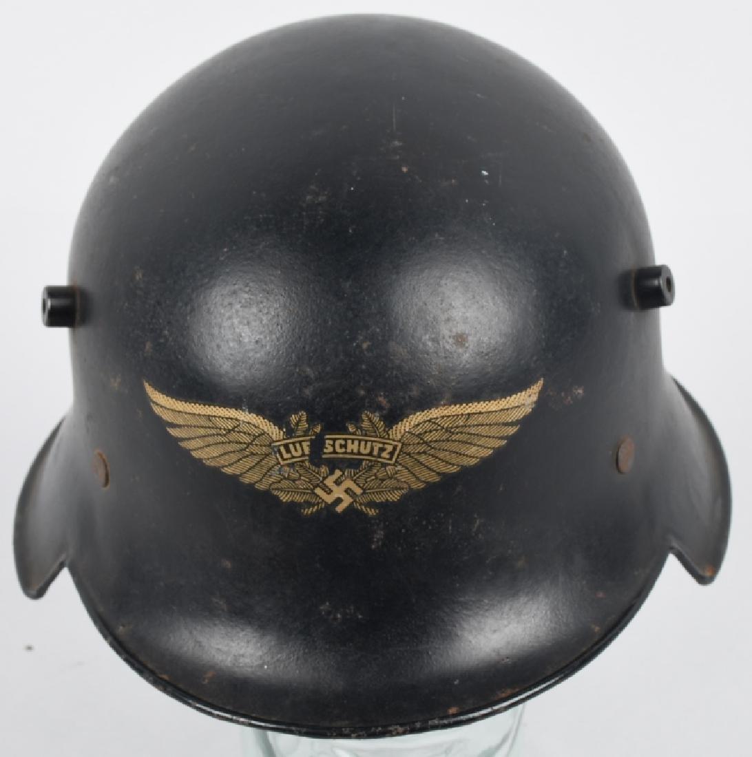 WWII NAZI GERMAN LUFTSCHUTZ RLB HELMET - 2