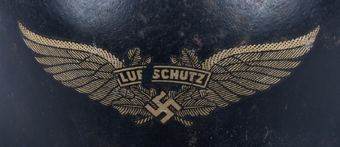 WWII NAZI GERMAN LUFTSCHUTZ RLB HELMET - 3