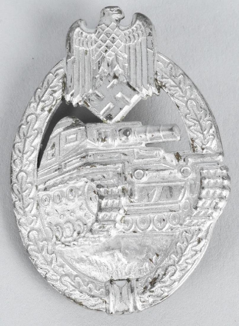 WWII NAZI GERMAN PANZER ASSAULT BADGE IN SILVER