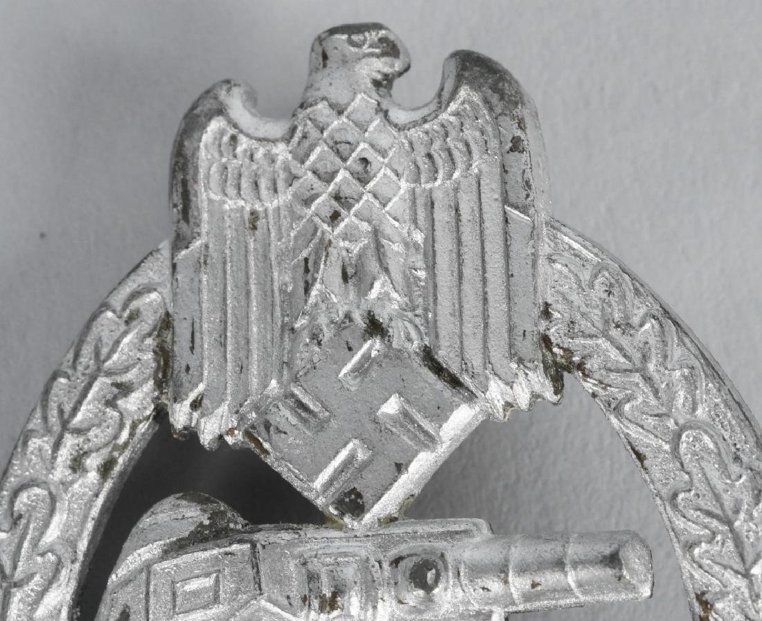 WWII NAZI GERMAN PANZER ASSAULT BADGE IN SILVER - 2