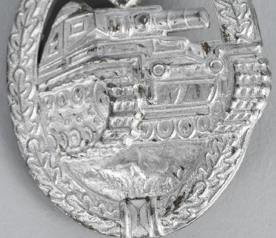 WWII NAZI GERMAN PANZER ASSAULT BADGE IN SILVER - 3