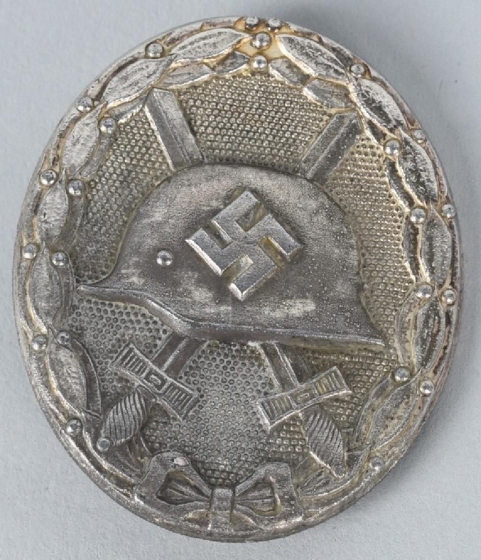 WWII NAZI GERMAN SILVER WOUND BADGE