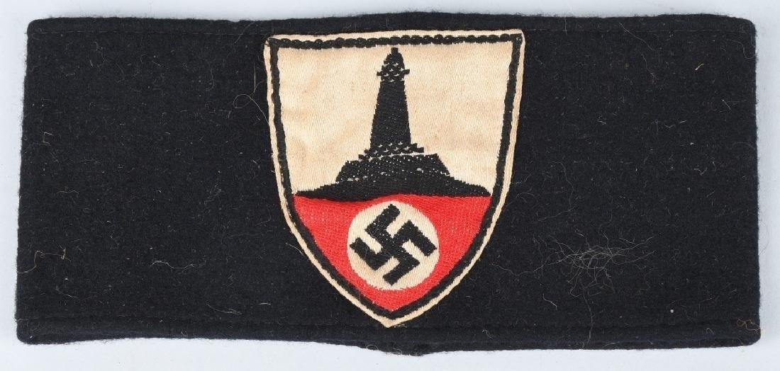 WWII NAZI GERMAN ARMBAND & INSIGNIA LOT - 2