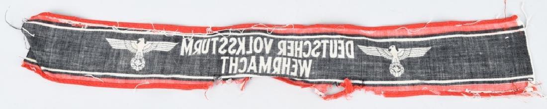 WWII NAZI GERMAN ARMBAND & INSIGNIA LOT - 5