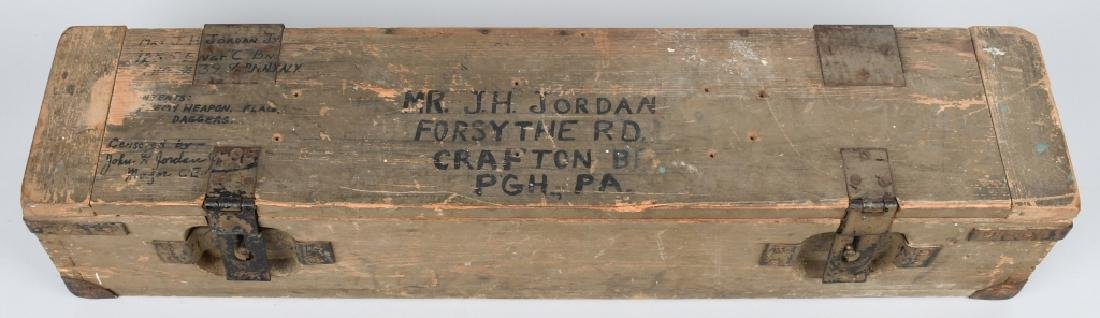 WWII U.S. GI BRING BACK SOUVENIRS SHIPPING CRATE
