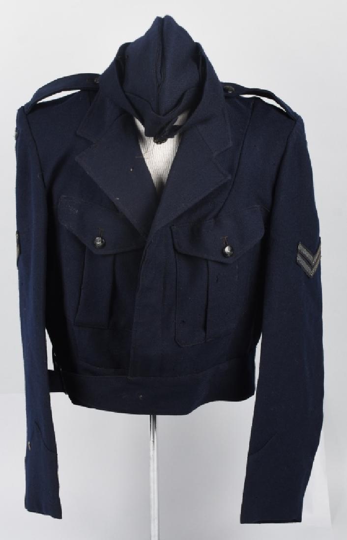 WWII AUSTRALIAN RAAF BATTLE DRESS JACKET & CAP