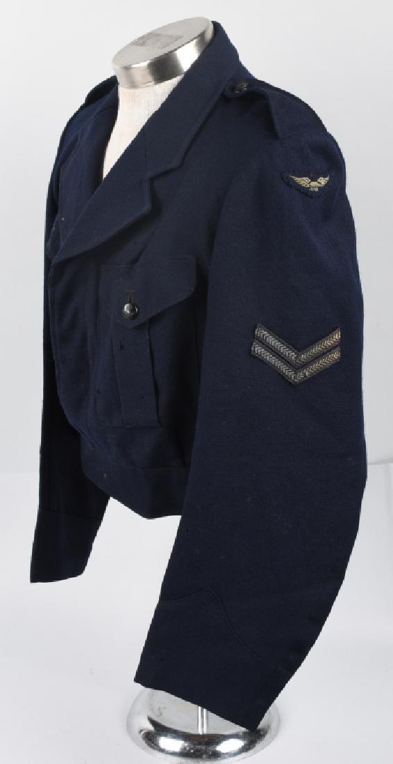WWII AUSTRALIAN RAAF BATTLE DRESS JACKET & CAP - 2