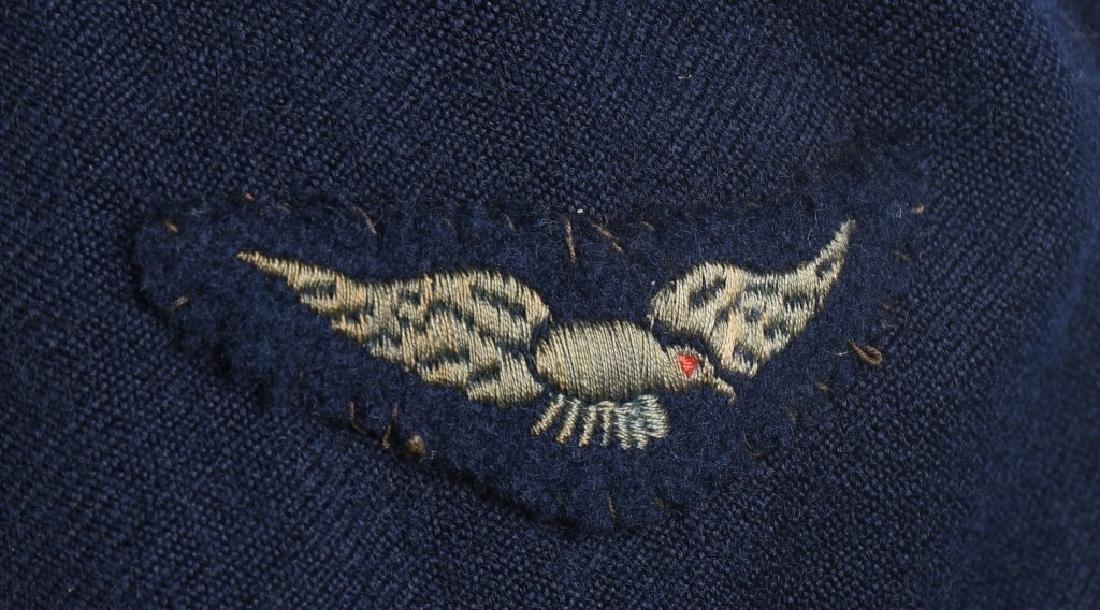 WWII AUSTRALIAN RAAF BATTLE DRESS JACKET & CAP - 3