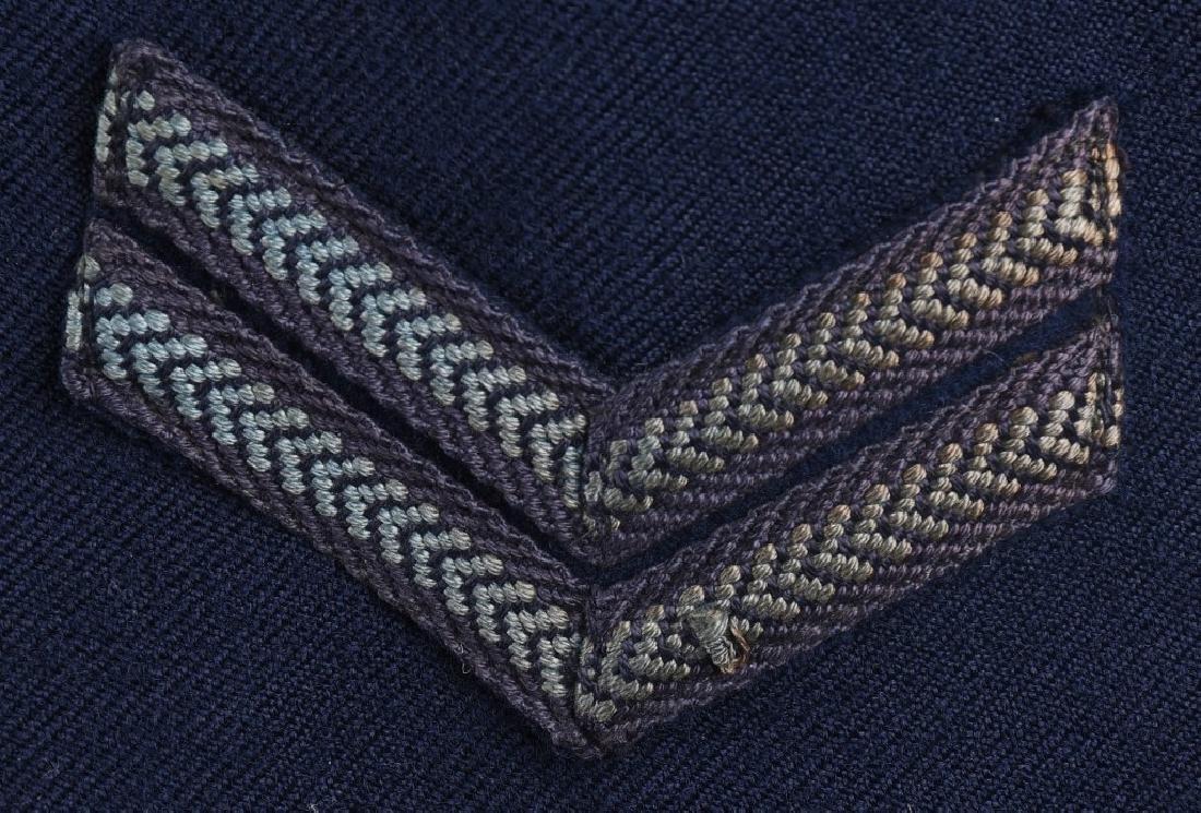WWII AUSTRALIAN RAAF BATTLE DRESS JACKET & CAP - 4