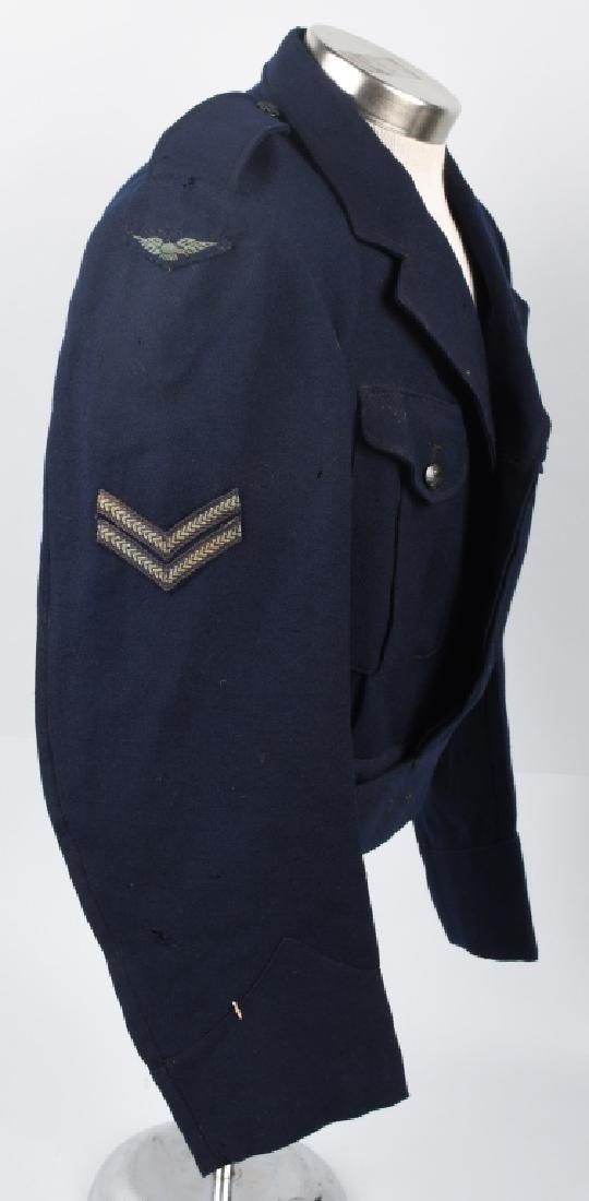 WWII AUSTRALIAN RAAF BATTLE DRESS JACKET & CAP - 6