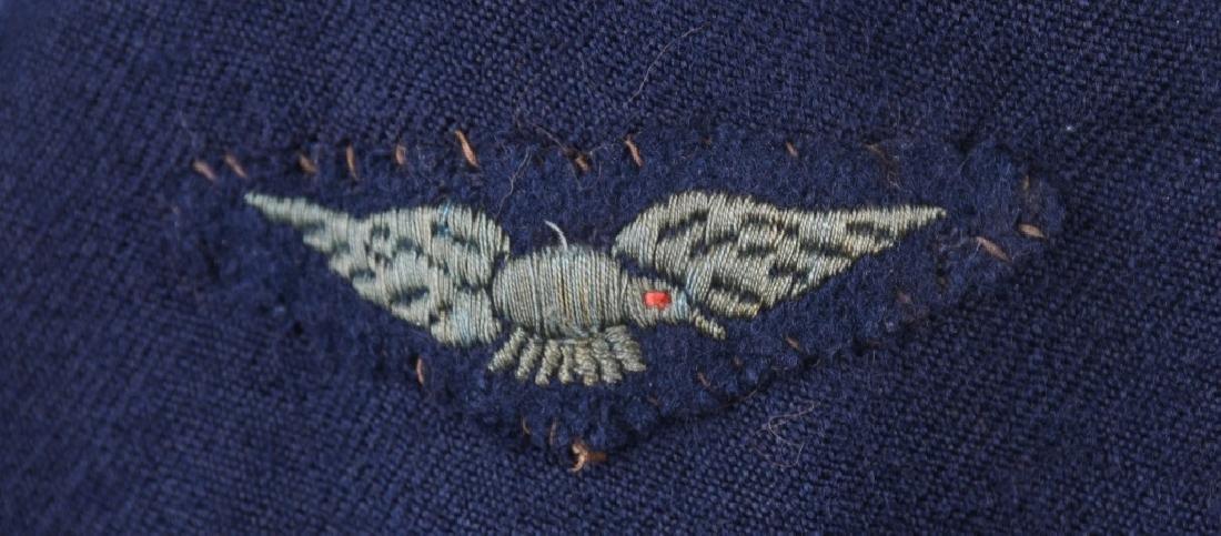WWII AUSTRALIAN RAAF BATTLE DRESS JACKET & CAP - 7