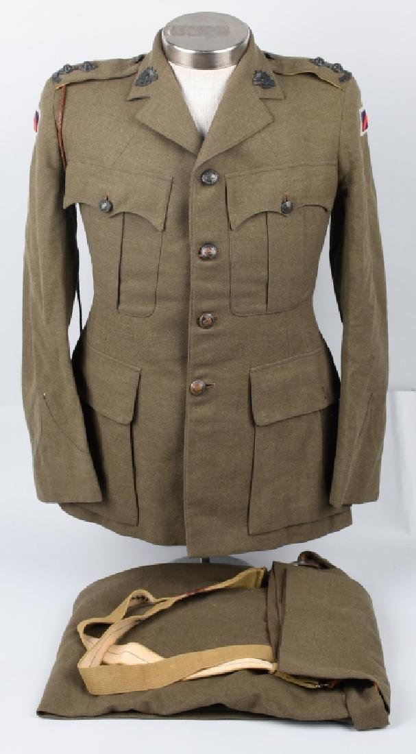 WWII IDENTIFIED AUSTRALIAN OFFICER DRESS UNIFORM