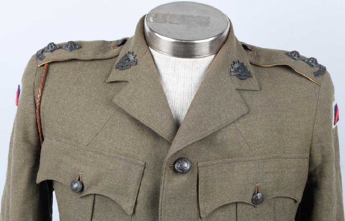 WWII IDENTIFIED AUSTRALIAN OFFICER DRESS UNIFORM - 2