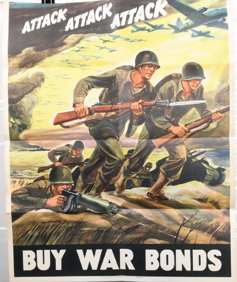 WWII U.S. WAR BONDS POSTER BY FERDINAND WARD 1942
