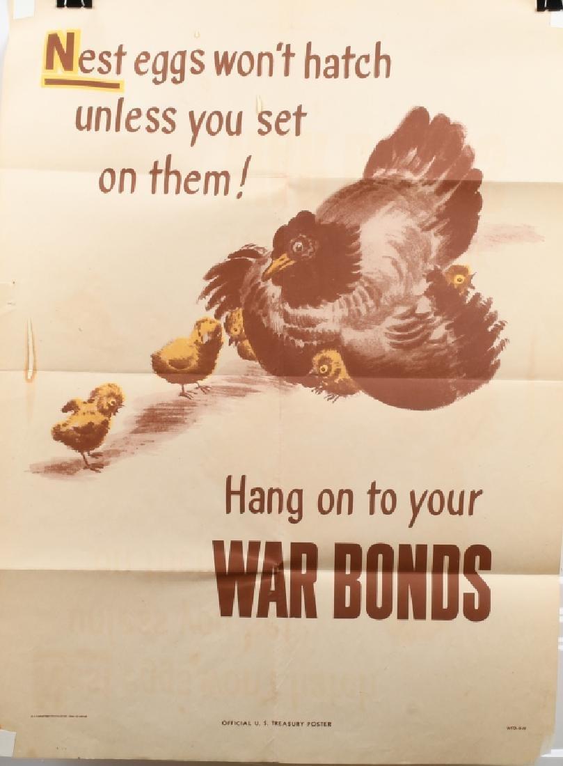 WWII U.S WAR BONDS POSTER - TREASURY DEPT. 1944