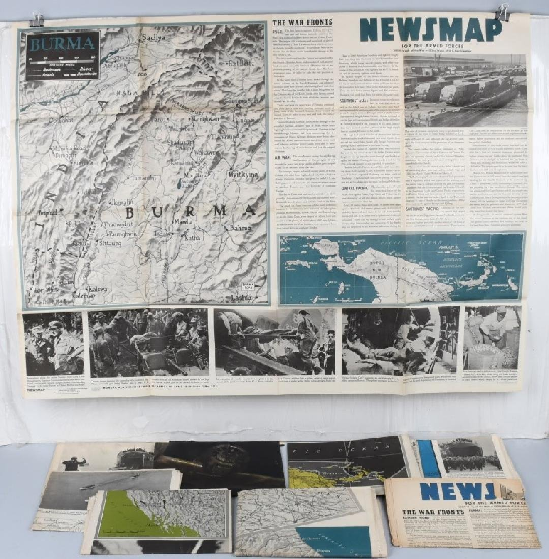 WWII US 1944 NEWSMAP NEWS MAP POSTERS WAR DEPT (9)