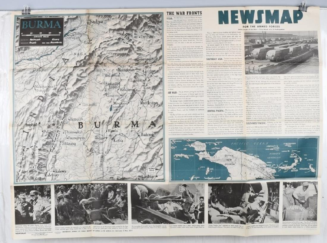 WWII US 1944 NEWSMAP NEWS MAP POSTERS WAR DEPT (9) - 2