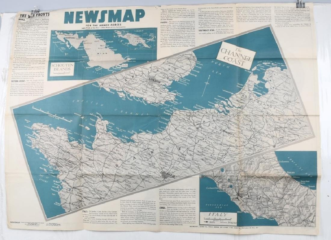 WWII US 1944 NEWSMAP NEWS MAP POSTERS WAR DEPT (9) - 3
