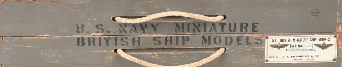 WWII U.S. NAVY SHIP IDENTIFICATION MODELS BRITISH - 6